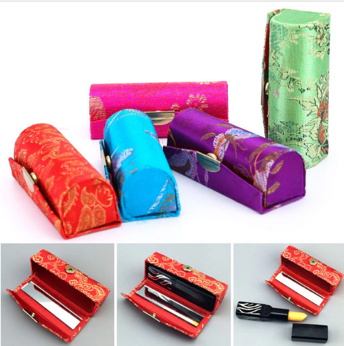 New Year's pocket mirror lipstick gift set
